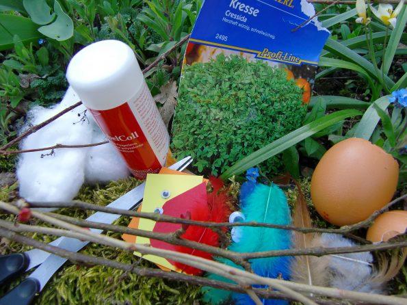 Bastelmaterial, Naturmaterial, Basteln für Ostern