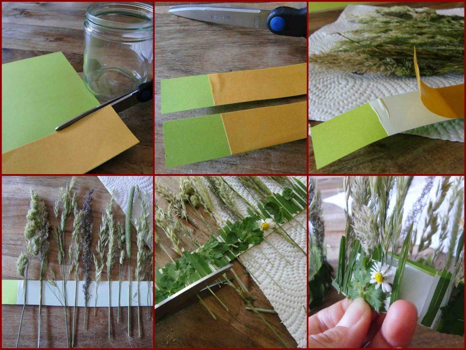 blühendes Gras, Basteln mit Naturmaterialien, sommerliche Tischdeko