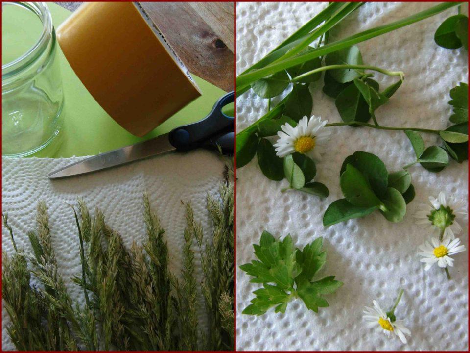 Windlicht Sommer, Tischdeko Sommer, sommerliches Windlicht, blühendes Gras