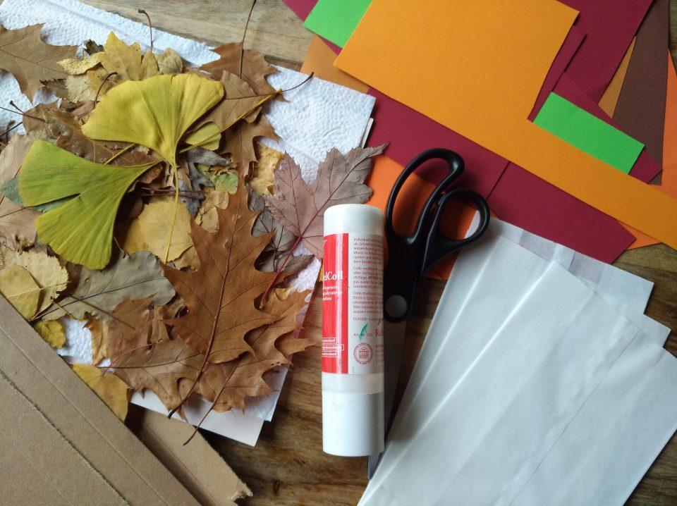 Blätterlaterne Material